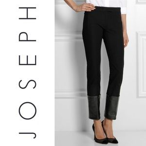 JOSEPH crown genuine leather trimmed pants